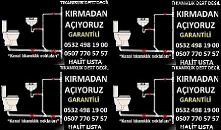 Kırmadan Robotla Tıkalı Lavabo Gideri Açıcı İstanbul Çekmeköy